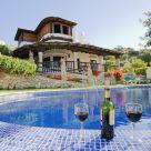 Casa rural con chimenea en Málaga
